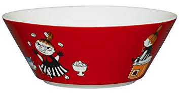 Arabia Moomin Bowl - Little My RED