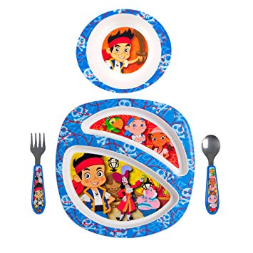 The First Years Disney Junior Jake And The Never Land Pirates 4-Piece Feeding Set