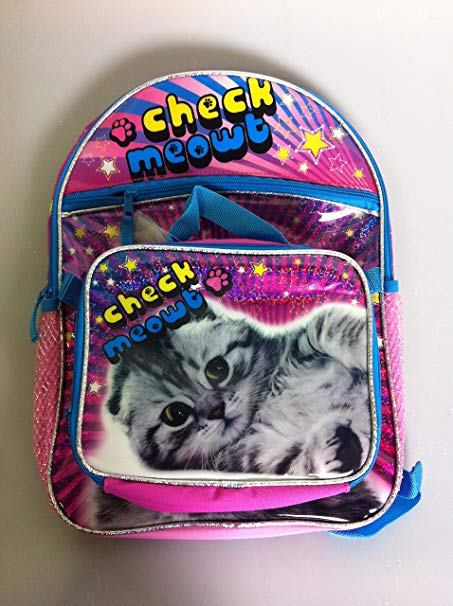 Global Design Concepts Check Meowt Kitty Backpack and Lunch Bag Set